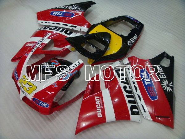 Ducati 748 / 998 / 996 1994-2002 Injection ABS Fairing - Factory Style - Red White - MFS4593