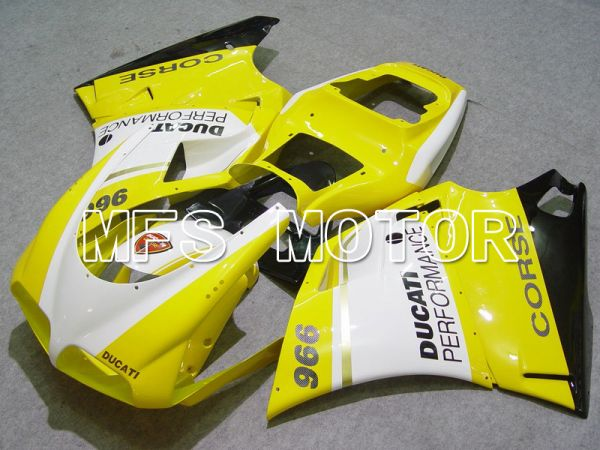 Ducati 748 / 998 / 996 1994-2002 Injection ABS Fairing - Performance - Yellow White - MFS4607