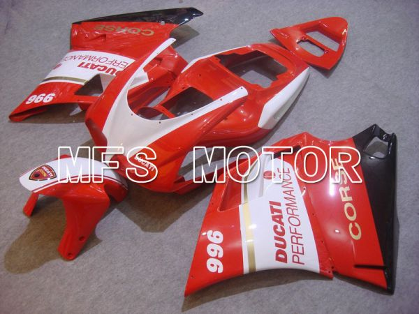 Ducati 748 / 998 / 996 1994-2002 Injection ABS Fairing - Performance - Red White - MFS4608