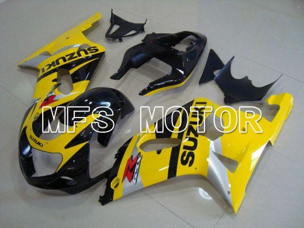 Suzuki GSXR600 2001-2003 Injection ABS Fairing - Factory Style - Black Yellow - MFS4614