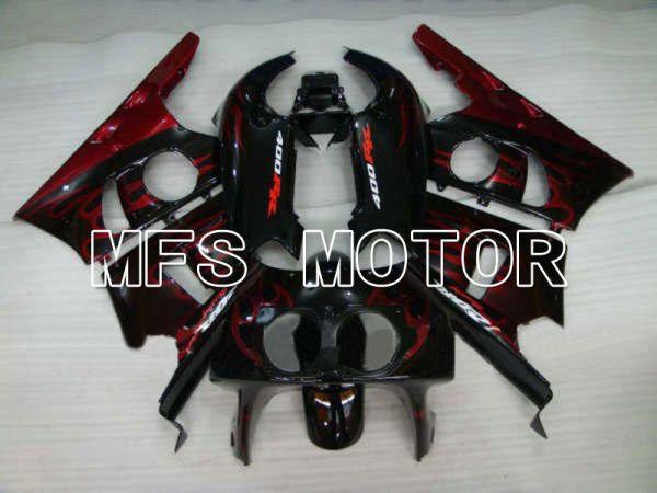 Honda CBR 400RR NC29 1990-1999 ABS Fairing - Flame - Red wine color Black - MFS4625