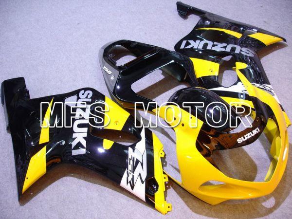 Suzuki GSXR600 2001-2003 Injection ABS Fairing - Factory Style - Black Yellow - MFS4637