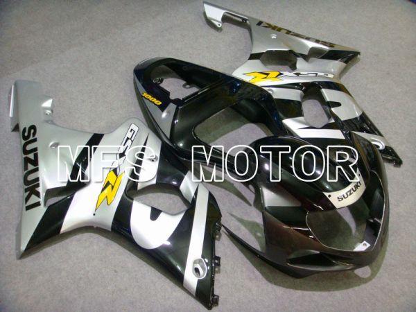 Suzuki GSXR600 2001-2003 Injection ABS Fairing - Factory Style - Black Silver - MFS4647