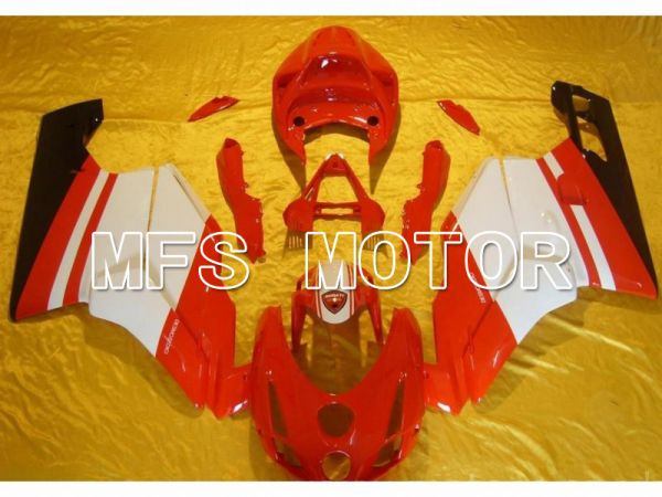 Ducati 749 / 999 2003-2004 Injection ABS Fairing - Factory Style - Red White - MFS4648