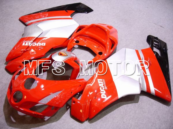 Ducati 749 / 999 2003-2004 Injection ABS Fairing - Factory Style - Red White - MFS4650