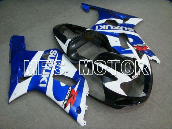 Suzuki GSXR600 2001-2003 Injection ABS Fairing - Factory Style - Black Wihte Blue - MFS4651