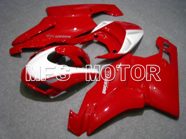 Ducati 749 / 999 2003-2004 Injection ABS Fairing - Factory Style - Red White - MFS4652