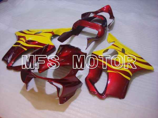 Honda CBR600 F4i 2001-2003 Injection ABS Fairing - Flame - Red wine color Yellow - MFS4667
