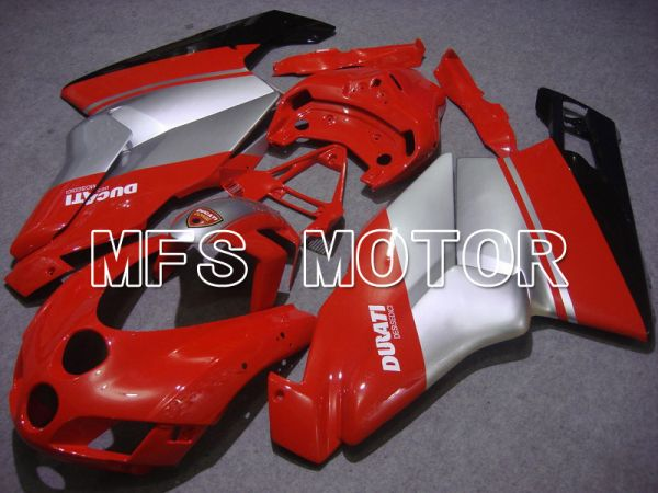 Ducati 749 / 999 2005-2006 Injection ABS Fairing - Factory Style - Red Silver - MFS4684