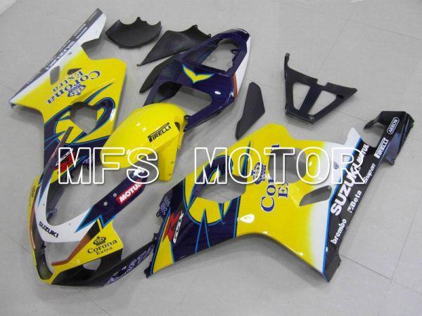 Suzuki GSXR600 GSXR750 2004-2005 Injection ABS Fairing - Corona - Blue Yellow - MFS4697