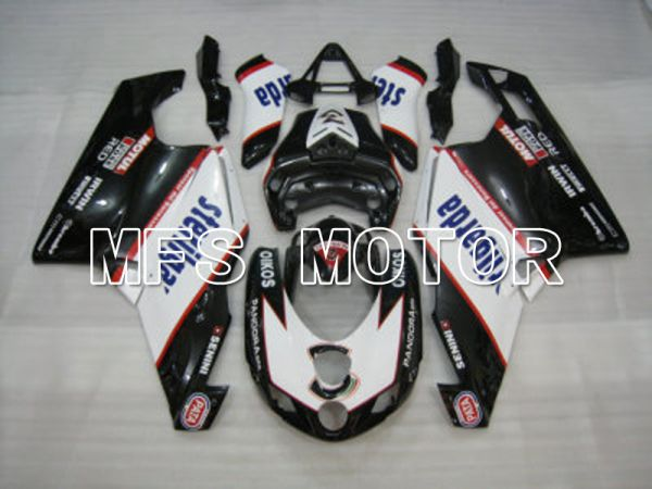 Ducati 749 / 999 2005-2006 Injection ABS Fairing - Sterilgarda - Black White - MFS4713