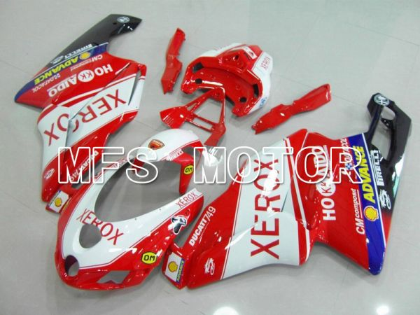 Ducati 749 / 999 2005-2006 Injection ABS Fairing - Xerox - Red White - MFS4717