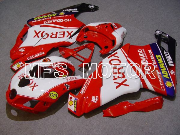 Ducati 749 / 999 2005-2006 Injection ABS Fairing - Xerox - Red White - MFS4720