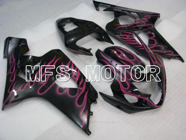 Suzuki GSXR600 GSXR750 2004-2005 Injection ABS Fairing - Flame - Black Pink - MFS4731