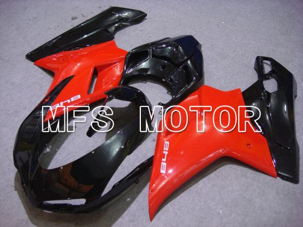Ducati 848 / 1098 / 1198 2007-2011 Injection ABS Fairing - Factory Style - Black Red - MFS4748