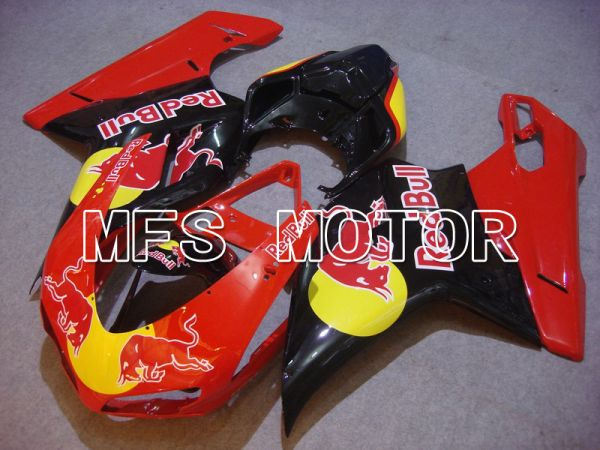 Ducati 848 / 1098 / 1198 2007-2011 Injection ABS Fairing - Red Bull - Red Black - MFS4765