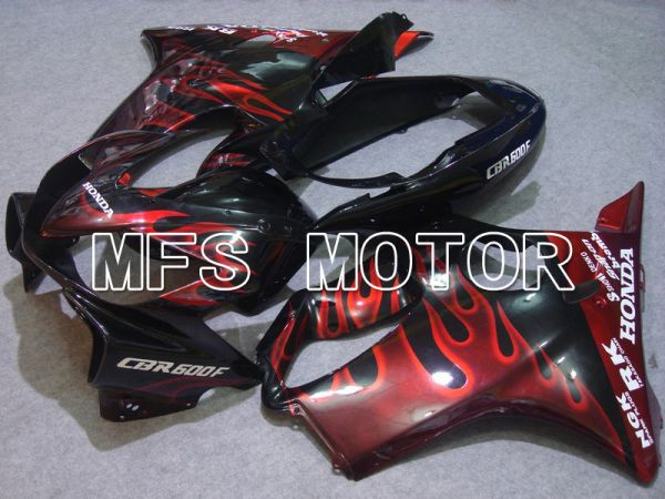 Honda CBR600 F4i 2004-2007 Injection ABS Fairing - Flame - Black Red - MFS4770