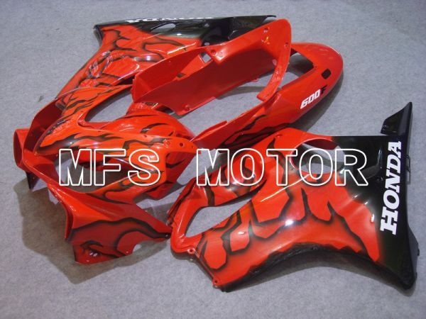 Honda CBR600 F4i 2004-2007 Injection ABS Fairing - Flame - Black Orange - MFS4771