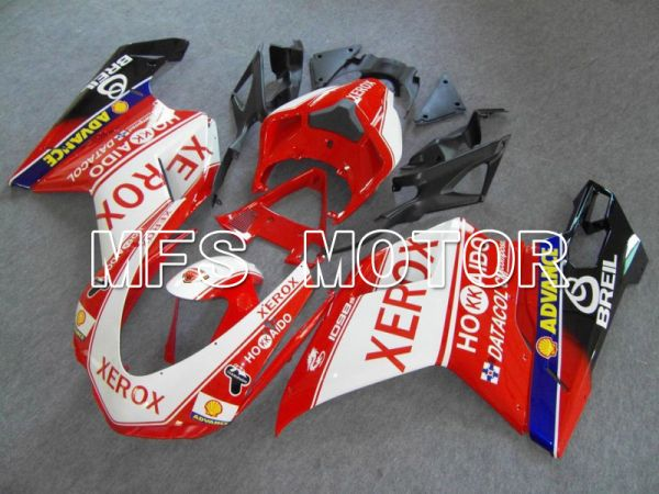 Ducati 848 / 1098 / 1198 2007-2011 Injection ABS Fairing - Xerox - Red White - MFS4775