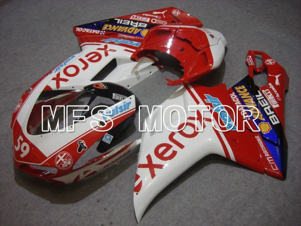 Ducati 848 / 1098 / 1198 2007-2011 Injection ABS Fairing - Xerox - Red White - MFS4778