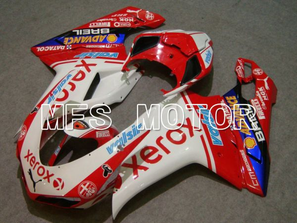 Ducati 848 / 1098 / 1198 2007-2011 Injection ABS Fairing - Xerox - Red White - MFS4779