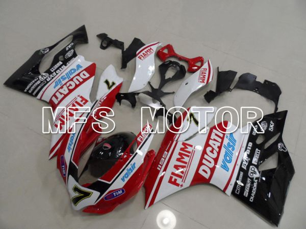 Ducati 1199 2011-2014 Injection ABS Fairing - FIAMM - Red White - MFS4798