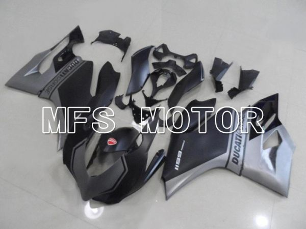Ducati 1199 2011-2014 Injection ABS Fairing - Factory Style - Black Gray Matte - MFS4801