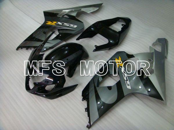 Suzuki GSXR600 GSXR750 2004-2005 Injection ABS Fairing - Factory Style - Black Gray - MFS4813