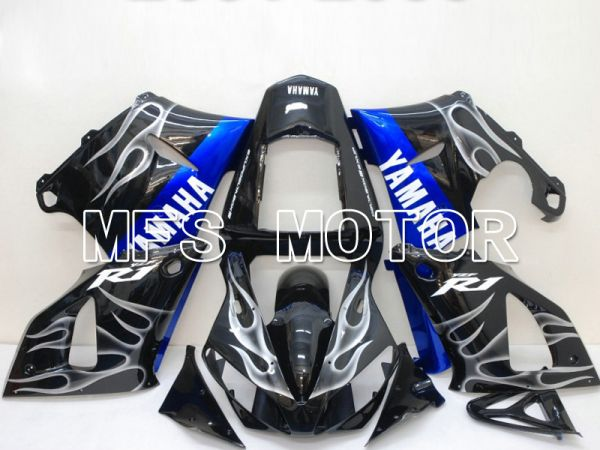 Yamaha YZF-R1 2000-2001 Injection ABS Fairing - Flame - Blue Black - MFS4862