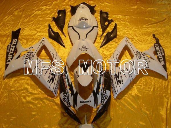Suzuki GSXR600 GSXR750 2006-2007 Injection ABS Fairing - Corona - Black White - MFS4865
