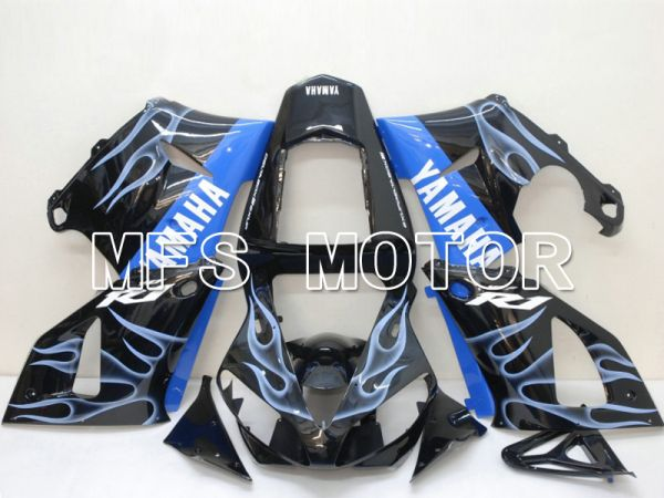 Yamaha YZF-R1 2000-2001 Injection ABS Fairing - Flame - Blue Black - MFS4869