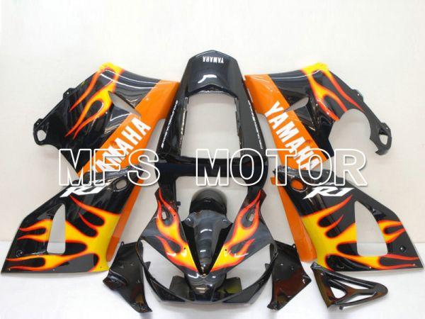 Yamaha YZF-R1 2000-2001 Injection ABS Fairing - Flame - Orange Black - MFS4873