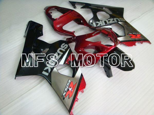 Suzuki GSXR600 GSXR750 2004-2005 Injection ABS Fairing - Factory - Black Silver Red wine color - MFS4822
