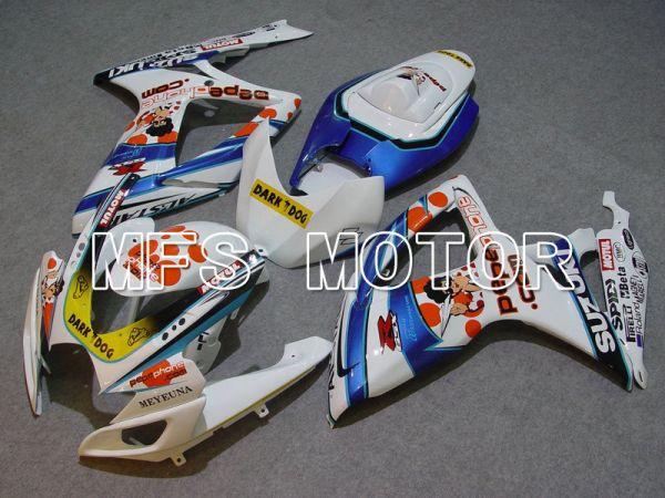 Suzuki GSXR600 GSXR750 2006-2007 Injection ABS Fairing - Dark Dog - Blue White - MFS4882