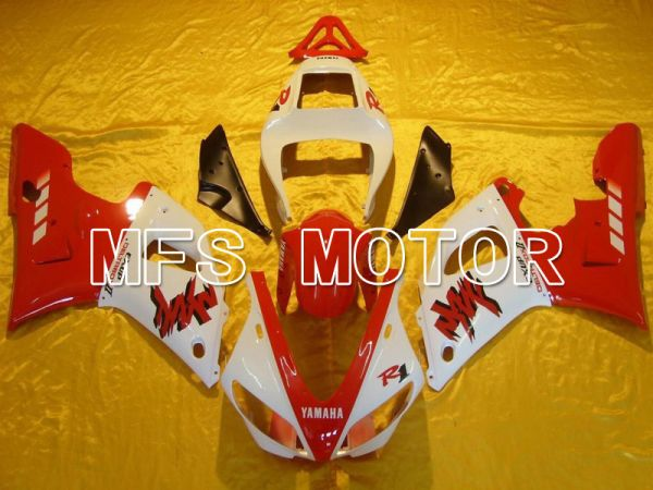 Yamaha YZF-R1 2000-2001 Injection ABS Fairing - Factory Style - Red White - MFS4897