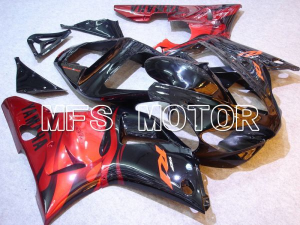 Yamaha YZF-R1 2000-2001 Injection ABS Fairing - Factory Style - Black Red - MFS4900