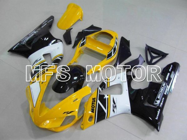 Yamaha YZF-R1 2000-2001 Injection ABS Fairing - Factory Style - Yellow White - MFS4909