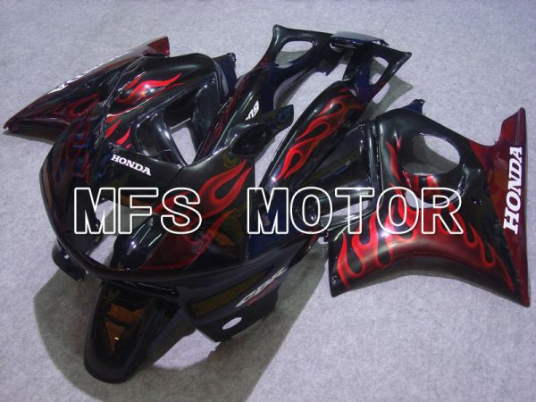 Honda CBR600 F3 1997-1998 Injection ABS Fairing - Flame - Black Red - MFS4922