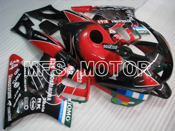 Honda CBR600 F3 1997-1998 Injection ABS Fairing - JOMO - Black Red - MFS4934