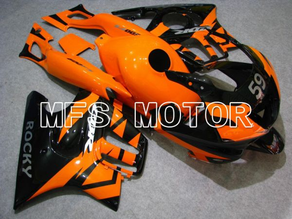 Honda CBR600 F3 1997-1998 Injection ABS Fairing - Factory Style - Black Orange - MFS4956