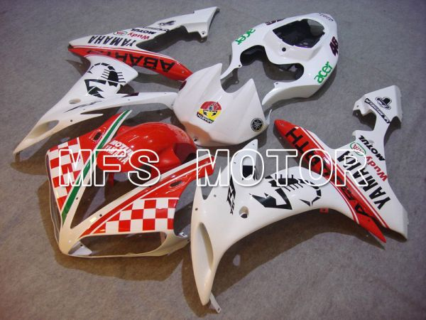 Yamaha YZF-R1 2004-2006 Injection ABS Fairing - ABARTH - Red White - MFS5000