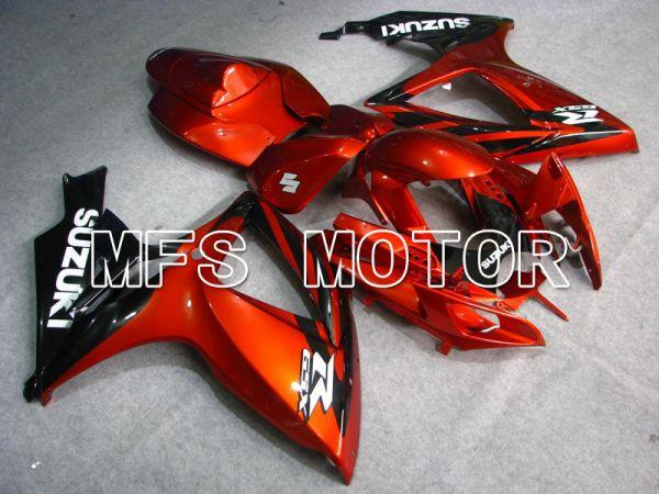 Suzuki GSXR600 GSXR750 2006-2007 Injection ABS Fairing - Factory - Black Orange - MFS5022