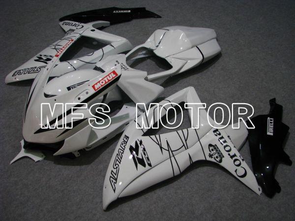 Suzuki GSXR600 GSXR750 2008-2010 Injection ABS Fairing - Corona - Black White - MFS5032