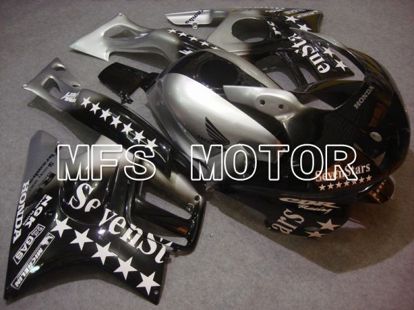Honda CBR600 F3 1997-1998 Injection ABS Fairing - SevenStars - Black Silver - MFS5035