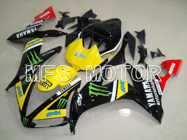 Yamaha YZF-R1 2004-2006 Injection ABS Fairing - Monster - Black Yellow - MFS5041