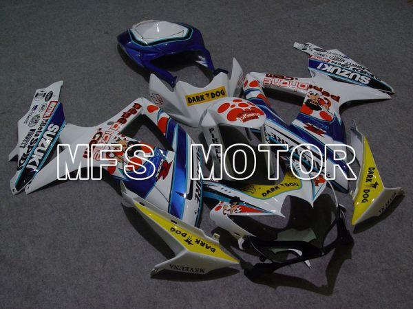 Suzuki GSXR600 GSXR750 2008-2010 Injection ABS Fairing - Dark Dog - Blue Yellow White - MFS5042
