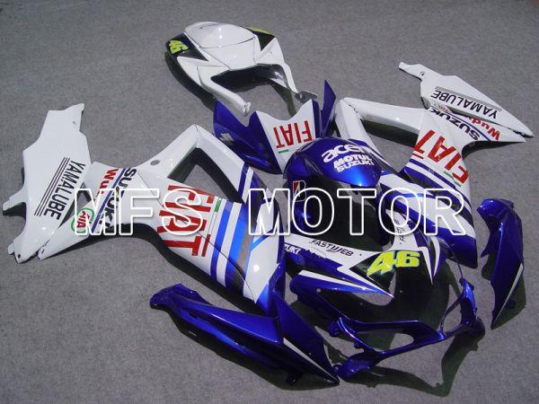 Suzuki GSXR600 GSXR750 2008-2010 Injection ABS Fairing - FIAT - Blue White - MFS5046
