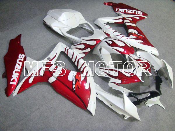 Suzuki GSXR600 GSXR750 2008-2010 Injection ABS Fairing - Flame - Red White - MFS5060