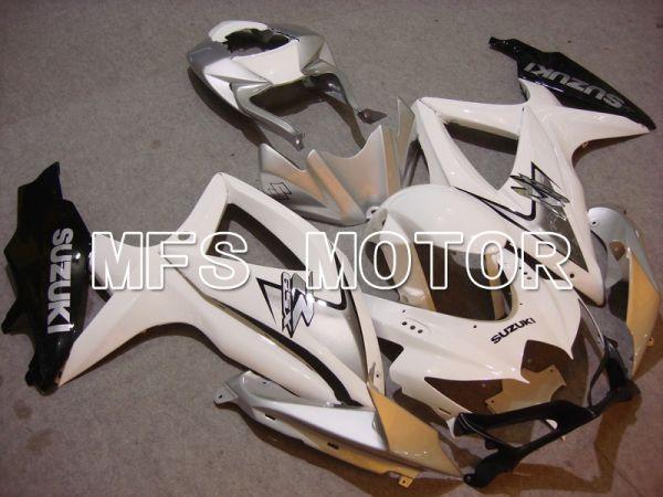 Suzuki GSXR600 GSXR750 2008-2010 Injection ABS Fairing - Factory Style - White Silver - MFS5102