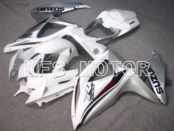 Suzuki GSXR600 GSXR750 2008-2010 Injection ABS Fairing - Factory Style - White Silver - MFS5104